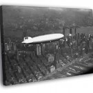 Hindenburg Airship NYC New York City Old Retro 50x40 Framed Canvas Print