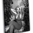 Marilyn Monroe Actress Hot Vintage BW 50x40 Framed Canvas Print