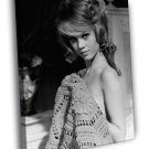 Jane Fonda Actress Hot Sexy Vintage BW 50x40 Framed Canvas Print