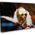 Star Wars C 3PO Daniels Behind The Scenes Rare 50x40 Framed Canvas Print