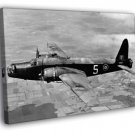Vickers Wellington Bomber Aircraft War Old WW2 50x40 Framed Canvas Print