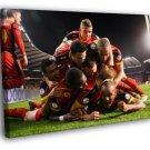 Belgium Team Diables Rouges Football Soccer 50x40 Framed Canvas Print