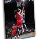 Russell Westbrook Oklahoma City Thunder Dunk 50x40 Framed Canvas Print