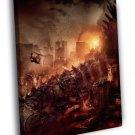 Godzilla 2014 City Ruins Awesome Movie Art 50x40 Framed Canvas Print