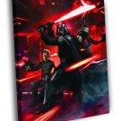 Darth Vader Lightsaber Fight Star Wars Movie 50x40 Framed Canvas Print