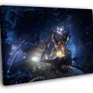 Aliens Vs Predator AVP Versus Marine Game Art 50x40 Framed Canvas Print