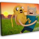 Adventure Time Finn Jake Cartoon Characters 50x40 Framed Canvas Print