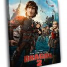 How To Train Your Dragon 2 Characters Movie 50x40 Framed Canvas Print