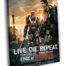 Edge Of Tomorrow Movie Awesome 50x40 Framed Canvas Print
