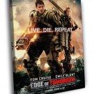 Edge Of Tomorrow Tom Cruise Emily Blunt Movie 50x40 Framed Canvas Print