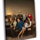 Dallas Characters Cast Awesome TV Series 50x40 Framed Canvas Print