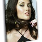 Minka Kelly Beautiful Portrait Actress 50x40 Framed Canvas Print