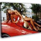 Ashanti Red Car Ice Cream R B Hip Hop Music 50x40 Framed Canvas Print