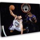 Vlade Divac Reverse Layup Sacramento Kings 50x40 Framed Canvas Print