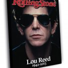 Lou Reed Art Rock Singer Portrait 1942 2013 50x40 Framed Canvas Print