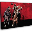 Red Dead Redemption Liars And Cheats Game Art 50x40 Framed Canvas Print