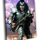 The Demon Gene Simmons KISS Heavy Metal Band 50x40 Framed Canvas Print