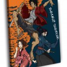 Samurai Champloo Characters Cool Jump Anime 50x40 Framed Canvas Print