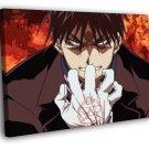 Fullmetal Alchemist Roy Mustang Anime Manga 50x40 Framed Canvas Print