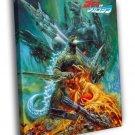 Godzilla Vs Mechagodzilla II 1993 Gojira Retro 50x40 Framed Canvas Print