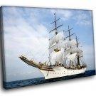 Sailing Ship White Sails Ocean Marine 50x40 Framed Canvas Art Print