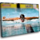 Ryan Lochte Swimmer Olympic Medalist Champion 50x40 Framed Canvas Art Print