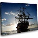Old Sailing Ship Ocean 50x40 Framed Canvas Art Print