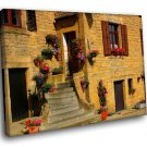 France Provence Town 50x40 Framed Canvas Art Print