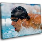 Michael Phelps Swimmer Olympian Champion 50x40 Framed Canvas Art Print