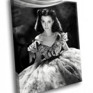 Vivien Leigh Gone With The Wind 50x40 Framed Canvas Art Print