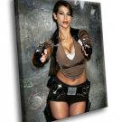 Karima Adebibe Lara Croft Model 50x40 Framed Canvas Art Print