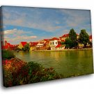 Gemany Bavaria Nice Scenery River 50x40 Framed Canvas Art Print
