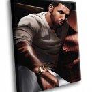 Drake Rapper Music 50x40 Framed Canvas Art Print