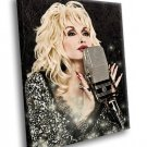 Dolly Parton Singer Country Music 50x40 Framed Canvas Art Print