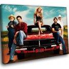 The Dukes Of Hazzard TV Series 50x40 Framed Canvas Art Print
