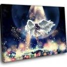 Fantasy Beautiful Angel Light Violin 50x40 Framed Canvas Art Print