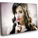 Demi Lovato Actress Singer R B Music 50x40 Framed Canvas Art Print
