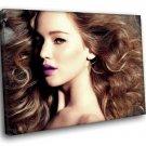 Jennifer Lawrence Hot Actress 50x40 Framed Canvas Art Print