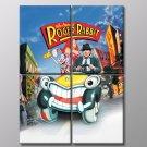 Who Framed Roger Rabbit Eddie Valiant Comedy Movie 50x40 Framed Canvas Art Print