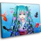 Vocaloid Anime Hatsune Miku 50x40 Framed Canvas Art Print