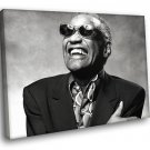 Ray Charles Blues Soul Music 50x40 Framed Canvas Art Print
