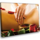 SPA Massage Aromatherapy Relaxation Rose Oil 50x40 Framed Canvas Art Print