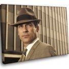 Mad Men Drama TV Series Don Draper Jon Hamm 50x40 Framed Canvas Art Print
