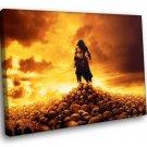Conan The Barbarian Sword Skulls Warrior Movie 50x40 Framed Canvas Art Print