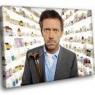 House TV Series Hugh Laurie Medicine Movie 50x40 Framed Canvas Art Print