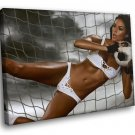 Football Amazing Sexy Girl Goalkeeper 50x40 Framed Canvas Art Print