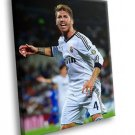 Sergio Ramos FC Real Madrid Football Sport 50x40 Framed Canvas Art Print