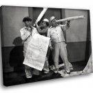 The Three Stooges Vaudeville Comedy 50x40 Framed Canvas Art Print