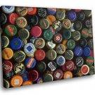 Beer Bottle Brands Collection 50x40 Framed Canvas Art Print