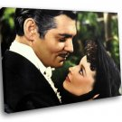 Gone With The Wind Clark Gable Vivien Leigh Movie 50x40 Framed Canvas Art Print